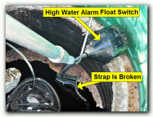 dallas septic inspection high water alarm float switch