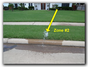 Dallas sprinkler inspection outdoor sprinkler leak